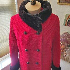 Vintage Russian Red Coat